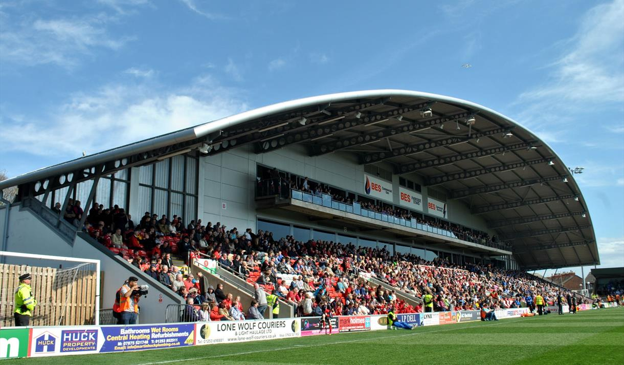 Fleetwood Town Football Club - Sports Ground / Stadium in Fleetwood on pharos lighthouse, morecambe bay, highbury stadium, fleetwood, lytham st annes,