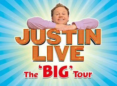 Justin Live event poster