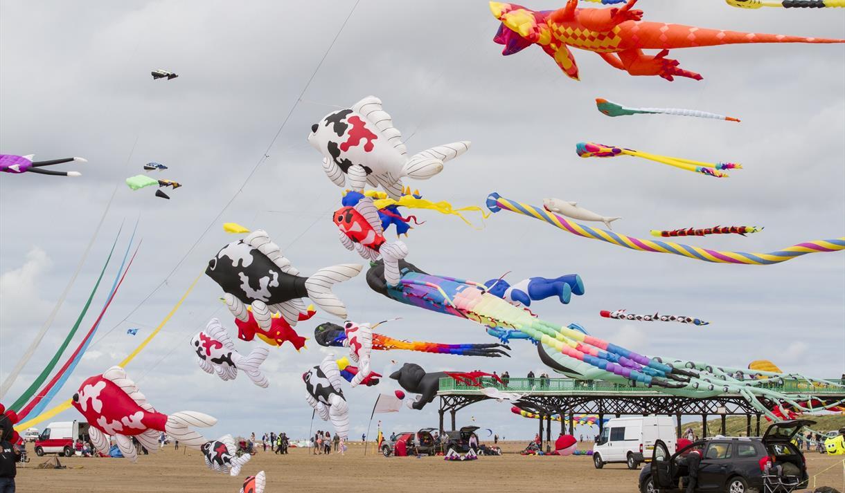St Annes International Kite Festival 2019 - Family in St