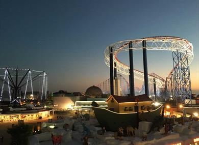 Pleasure Beach at Dusk