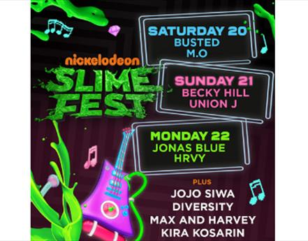 Busted, Becky Hill and Union J Set To Perform at Slimefest