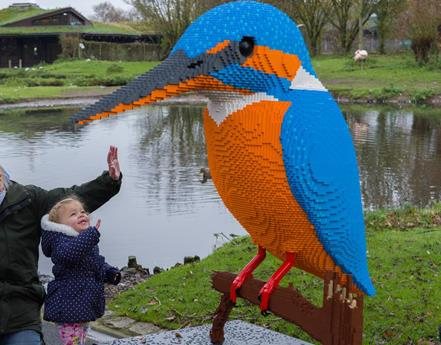 LEGO® brick animals return to WWT Martin Mere Wetland Centre