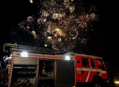 Lancashire Fire and Rescue Service Charity Bonfire and Fireworks