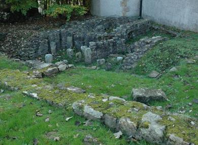 Roman Bath House and Wery Wall Remains