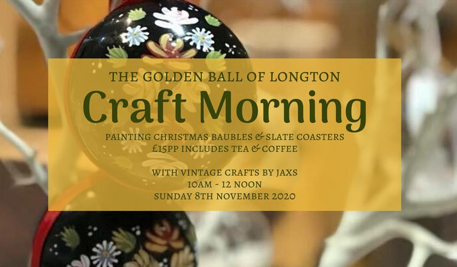 Christmas Bauble & Coaster Painting workshop