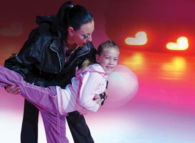 Learning to skate at Pleasure Beach Arena