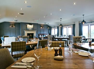 Upstairs dining room at Farmers Arms