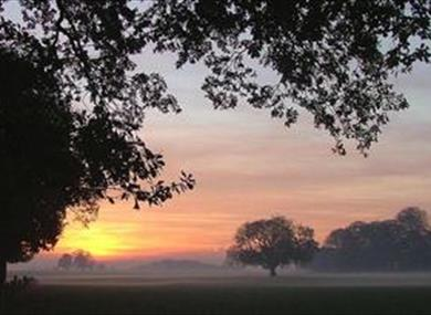 Witton Park at sunrise